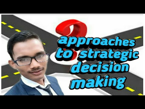 Approaches To Strategic Decision Making