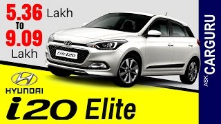 New i20 Elite, CARGURU, हिन्दी में, Hyundai i20, Price, Engine, Interior, Safety & Exterior,