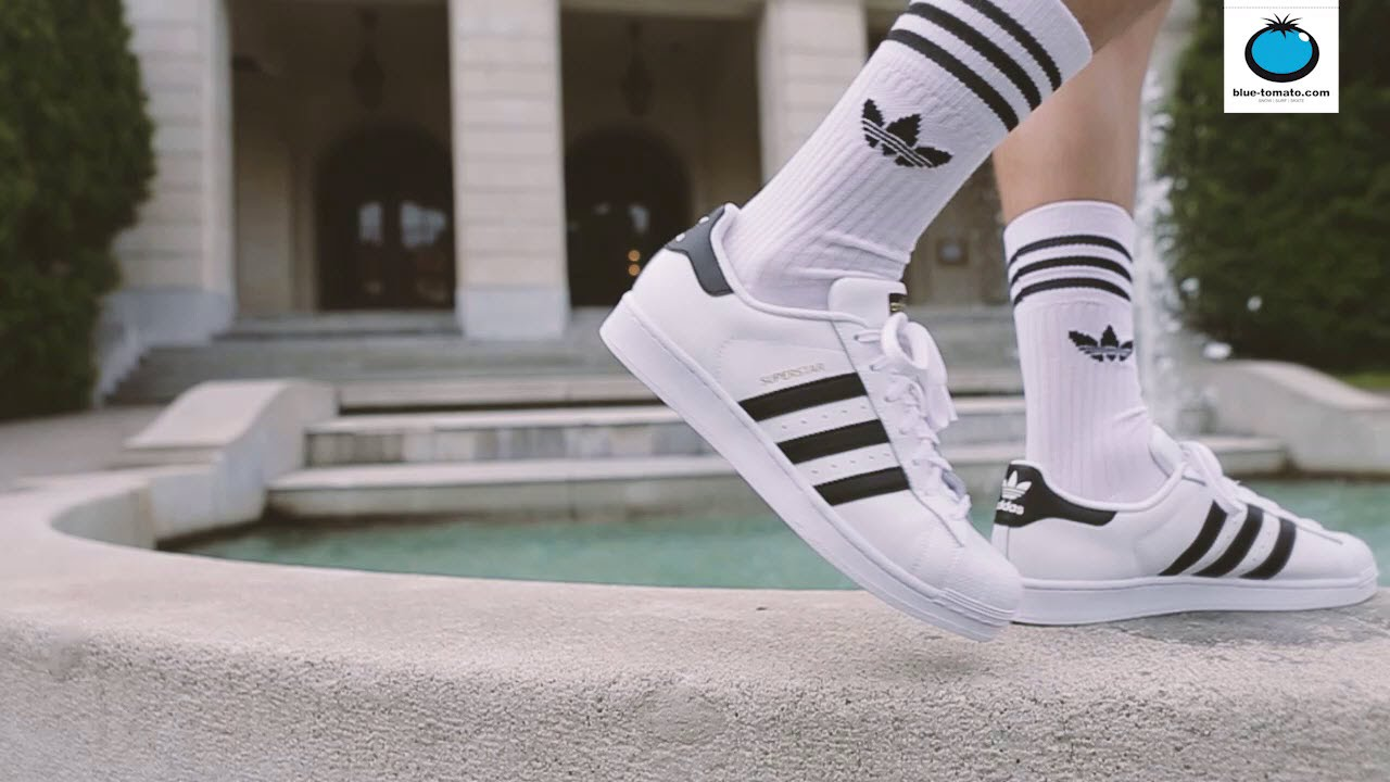 dbe9d8c1e4fe Adidas Originals Superstar Sneakers and Adidas Originals Solid Crew 3 Socks  - YouTube
