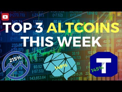 ALTCOINS 2019 - TOP 3 ALTCOINS THIS WEEK - TTC PROTOCOL - DEEPBRAIN CHAIN - EVEREX