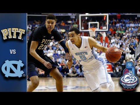 Pittsburgh vs. North Carolina 2016 ACC Basketball Tournament Highlights