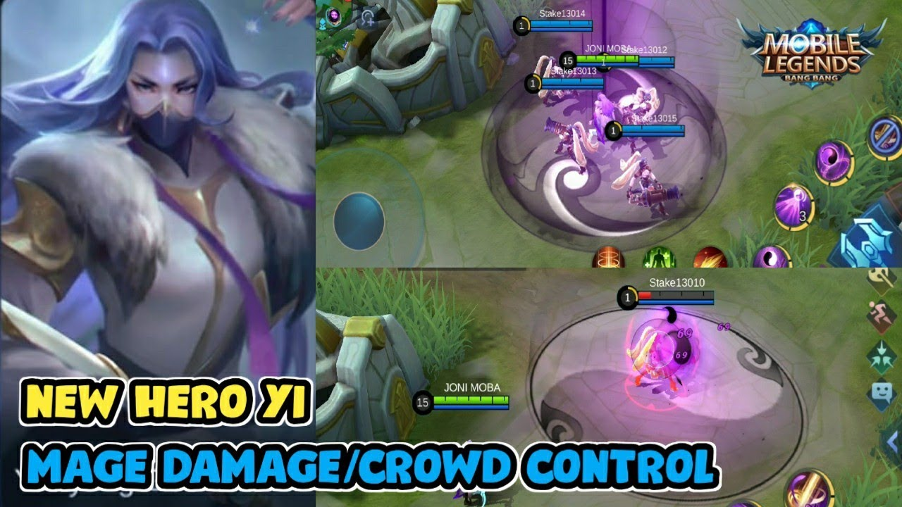 NEW HERO MAGE YI EFFECT SKILL GAMEPLAY MOBILE LEGENDS