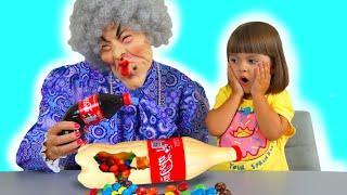 История для детей как Арина Шоколад и Газировка Челлендж для няни