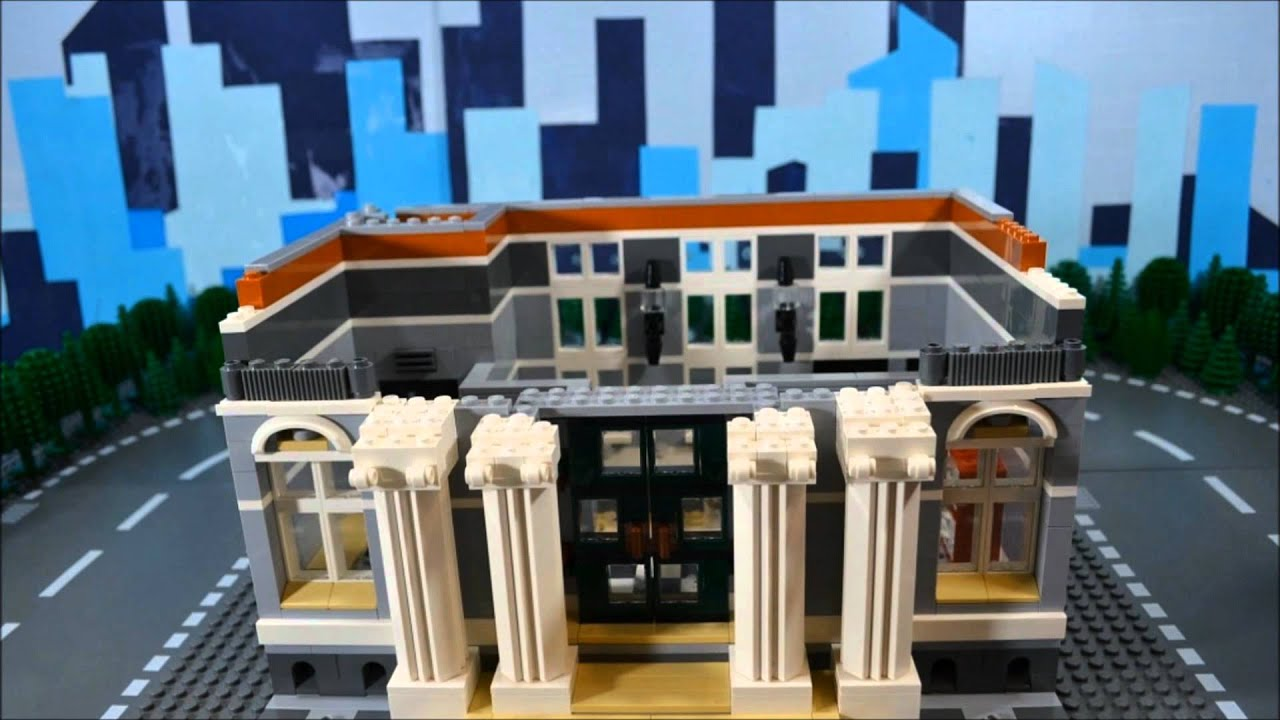 Lego 10224 Town Hall Time Lapse Amp Stop Motion Youtube
