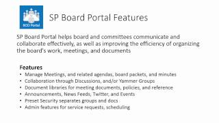 SP Board Portal template for SharePoint and Office 365