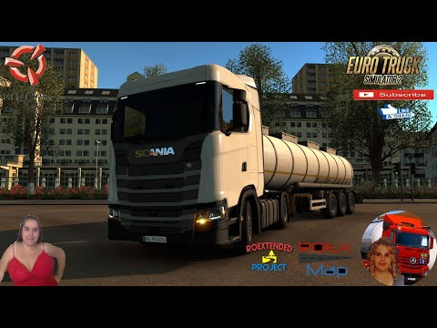 Euro Truck Simulator 2 (1.38) Delivery to Odessa Ukraine Roextended 2.7 by Arayas + DLC's & Mods