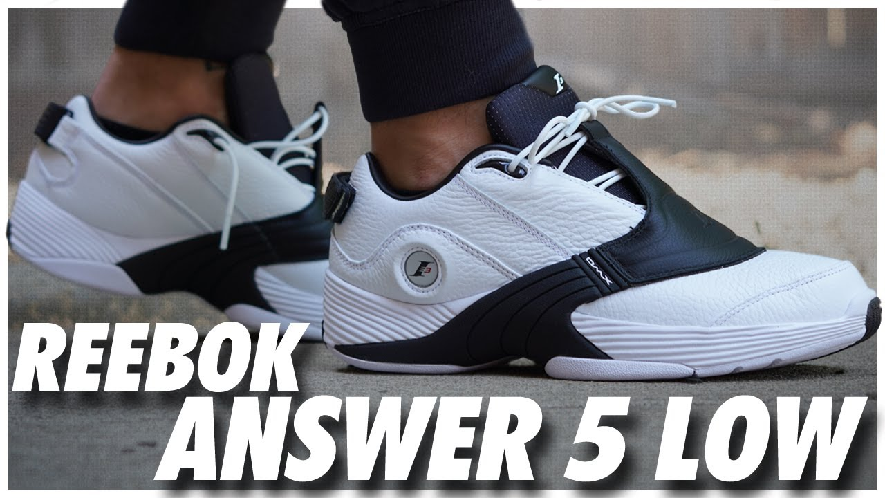 Reebok Answer 5 Low White/Black - YouTube