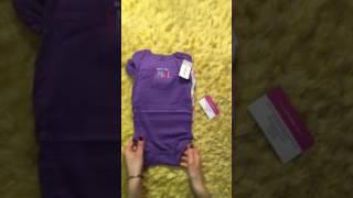 Обзор Carters: комплект боди для девочек с коротким рукавом