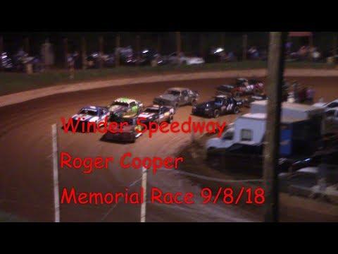 Winder Barrow Speedway Roger Cooper Memorial Race 9/8/18