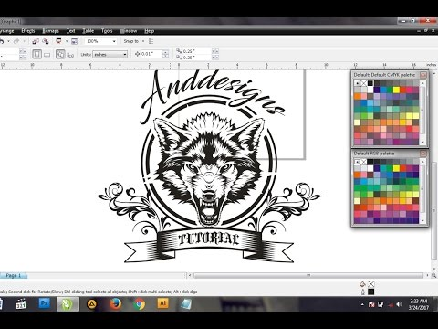 How Do I Make T-shirt Designs Wolf Vector In Coreldraw X4