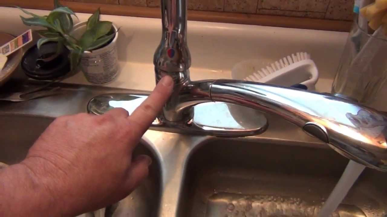 Leaky Bathroom Faucet Youtube how to fix a leaking kitchen faucet - youtube