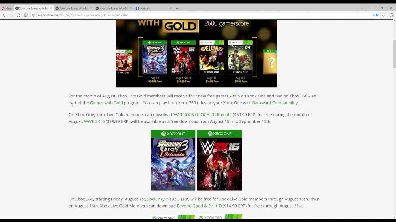 Worse Month Yet Xbox Live Games With Gold For October
