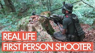 First Person Shooter in Real Life - Sniper Gameplay