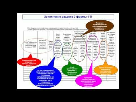 Заполнение статформы 1-П «Отчет предприятия о производстве и отгрузке продукции (товаров, услуг)»
