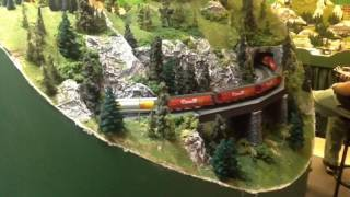 N Scale Trains on my Friend's Massive Canadian Rocky Mountains Layout