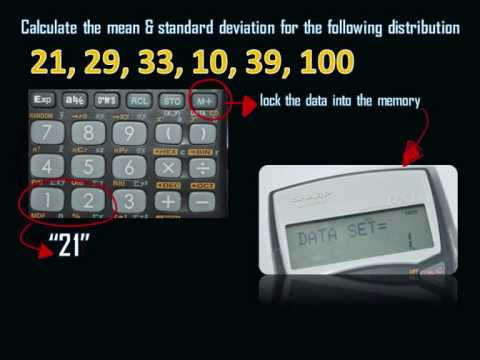 Finding Mean And Standard Deviation (sharp EL 590 WM)