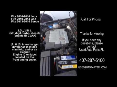 10 11 12 13 14 VW Jetta Diesel 2.0 Engine Used Auto Parts Golf Beetle