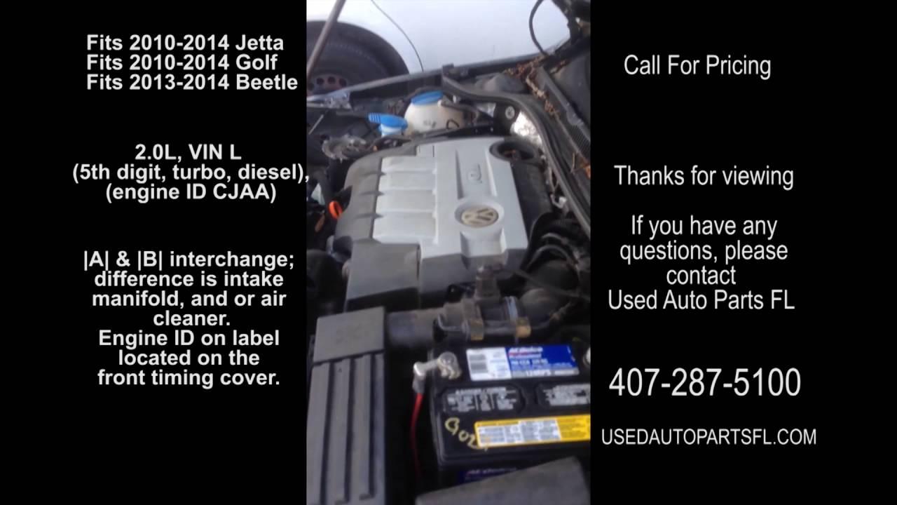 10 11 12 13 14 VW Jetta Diesel 2.0 Engine Used Auto Parts Golf ...