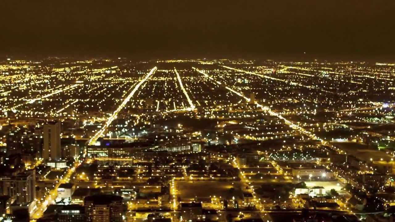 Chicago Night Traffic Amp City Lights Time Lapse Youtube
