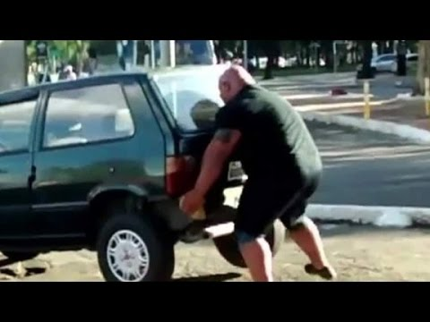Brazilian 'Hulk' appears to lift car with bare ...