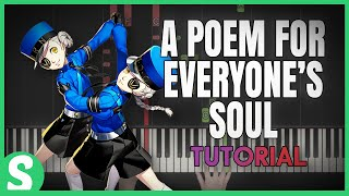 """How to play """"THE POEM FOR EVERYONE'S SOUL"""" from Persona 3 