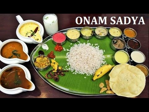 Amazing 32 item Feast! Onam Sadya 2016 സദ്യ South Indian Keralan Cuisine