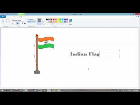 MS Paint Create A Indian Flag Very Easy