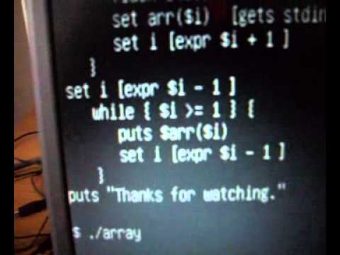 Arrays In TCL