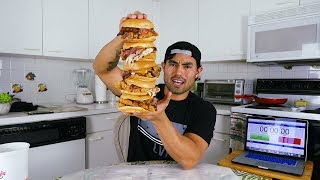 Ripped YouTuber Does Insane 15,000 Calorie Food Challenges
