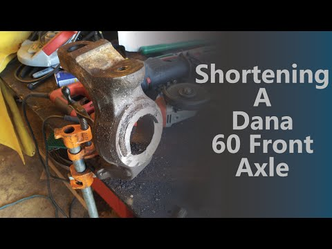 Shortening a Dana 60 Front Axle 610BOB Builds - YouTube