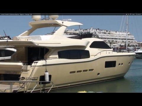 Luxury Yachts in Vilamoura Marina - Algarve - Portugal - HD