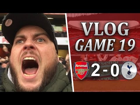 ARSENAL 2 v 0 SPURS - MEN AGAINST BOYS - MATCHDAY VLOG