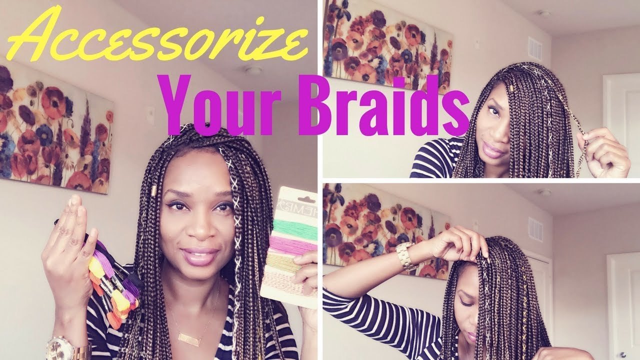 how to accessorize your box braids braid cordsstrings
