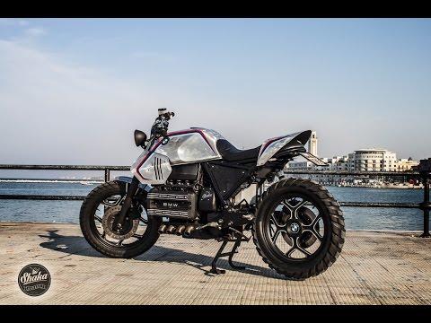 BMW cafè racer brat scrambler k100 prima accensione by SHAKA GARAGE