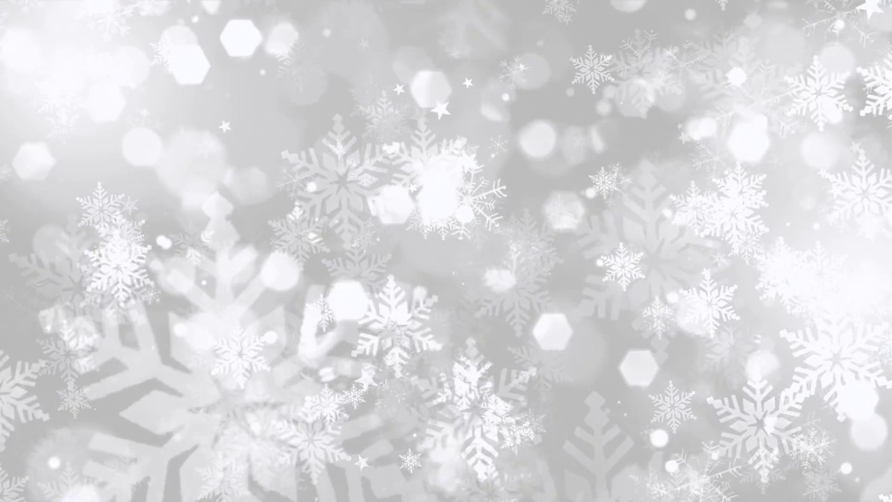 Falling Snow Desktop Wallpaper Christmas Snowflakes Background Youtube