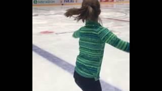 Елизавета Нугуманова, танец на коньках