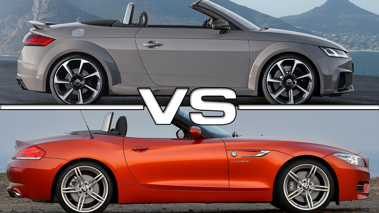 2017 Audi Tt Rs Roadster Vs Bmw Z4 Roadster Youtube