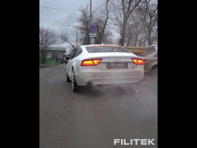 Спортивный выхлоп на Audi A7 3L kompressor