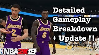 NBA 2K19 Gameplay 5V5 Detailed Review. Lakers vs Warriors + Lebron James vs Steph Curry.