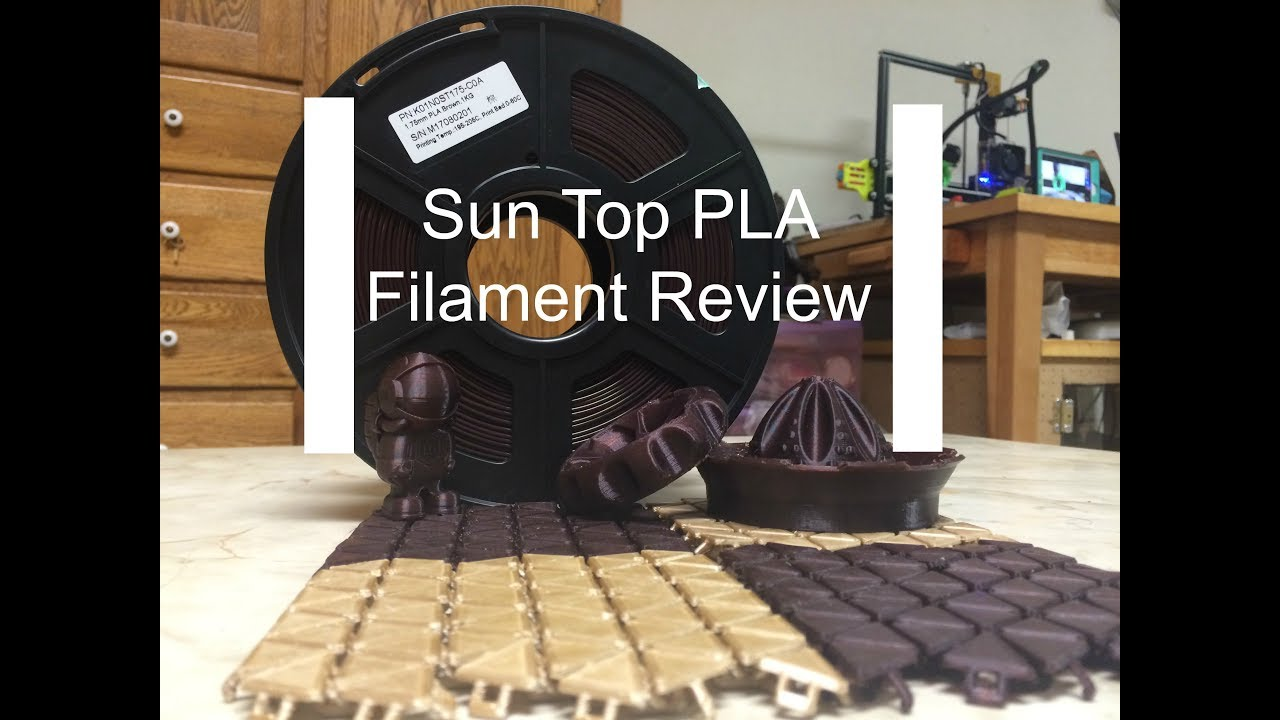 SunTop Brown PLA Filament Review
