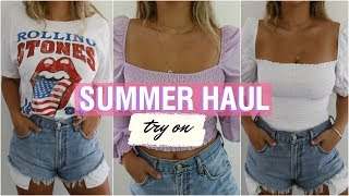 SUMMER TRY-ON HAUL // Revolve, Reformation, & Thrifted!