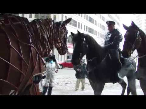 Joey meets Denver & Vader with the Detroit Mounted Police