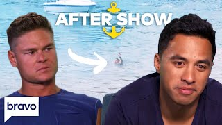 The Crew Gets Real On Ashton Pienaar's Fall Overboard | Below Deck After Show Part 2 (S6 Ep11)