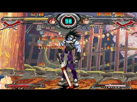 Guilty Gear XX Accent Core Plus Gameplay PSP