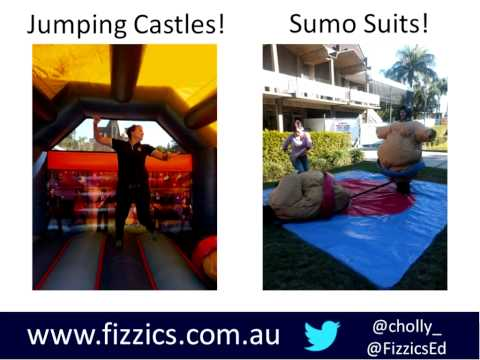 The Physics of Jumping Castles : Using Apps to Teach Science #OZeLIVE2015