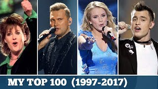 Eurovision 1997-2017 | My Top 100 Songs