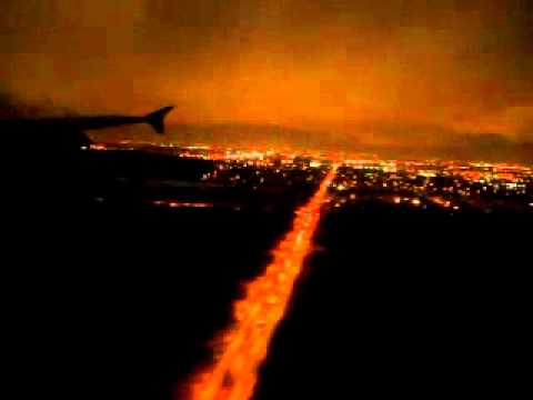 Air Canada A320 Night Landing at Ottawa International Airport, Canada