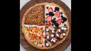pizza de cookie de 4 sabores