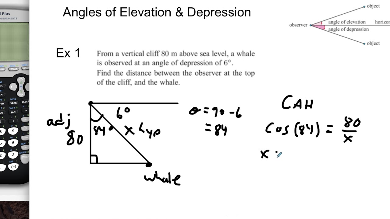 Angles Of Elevation Depression YouTube - Find elevation above sea level