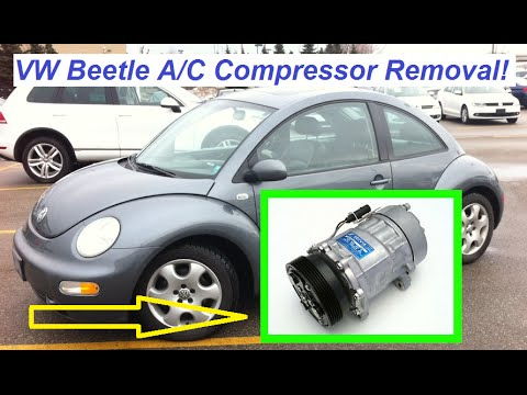 VW Beetle A/C Compressor Removal and Replacement Beetle Air